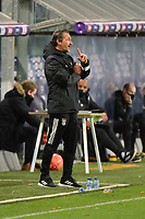 Benfica's head coach Luis Oliveira pictured during a female soccer game between RSC Anderlecht Dames and Portugese Benfica Ladies  in the second qualifying round for the Uefa Womens Champions League of the 2020 - 2021 season , Wednesday 18 th of November 2020  in ANDERLECHT , Belgium . PHOTO SPORTPIX.BE | SPP | DIRK VUYLSTEKE