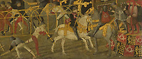 Full title: Cassone with a Tournament Scene<br /> Artist: Italian, Florentine<br /> Date made: probably about 1455-65