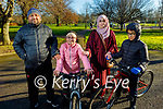 Mohamed, Maryam, Denisaan and Yasir Mohamed Khan enjoying a stroll in the Tralee town park on Saturday.
