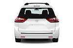 Straight rear view of a 2020 Toyota Sienna XLE 5 Door Mini Van stock images