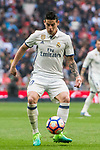 James Rodriguez of Real Madrid in action during their La Liga match between Real Madrid and Valencia CF at the Santiago Bernabeu Stadium on 29 April 2017 in Madrid, Spain. Photo by Diego Gonzalez Souto / Power Sport Images
