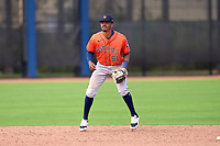Houston Astros AJ Lee (61) during a Minor League Spring Training game against the New York Mets on April 27, 2021 at FITTEAM Ballpark of the Palm Beaches in Palm Beach, Fla.  (Mike Janes/Four Seam Images)