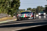 #54 AF Corse Ferrari 488 GTE EVO LMGTE Am, Thomas Flohr, Giancarlo Fisichella, Francesco Castellacci, 24 Hours of Le Mans , Test Day, Circuit des 24 Heures, Le Mans, Pays da Loire, France