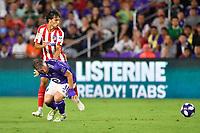 Orlando, FL - Wednesday July 31, 2019:  Bastian Schweinsteiger #31, João Félix #7 during an Major League Soccer (MLS) All-Star match between the MLS All-Stars and Atletico Madrid at Exploria Stadium.