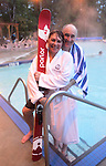 Joanna Blanchard and Scott Blanchard<br /> Revelstoke Pool, Sutton Place Hotel