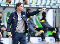 23rd May 2020, Volkswagen Arena, Wolfsburg, Lower Saxony, Germany; Bundesliga football,VfL Wolfsburg versus Borussia Dortmund; Trainer Oliver Glasner (Wolfsburg)