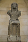 Statue of Ramses III from Beth Shean, 1184-1153 BC, basalt, on display at the Rockefeller Museum