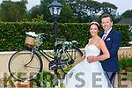 MAura Mangan and Luke Quinn celebrating their wedding in Kilbrean on Friday