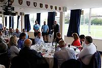 London Scottish players interview at Corporate hospitality during the Championship Cup match between London Scottish Football Club and Nottingham Rugby at Richmond Athletic Ground, Richmond, United Kingdom on 28 September 2019. Photo by Carlton Myrie / PRiME Media Images