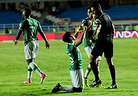 CALI- COLOMBIA, 27-8-2017: Fabián Sambueza  jugador del Deportivo  Cali celebra después de anotar un gol al América de Cali  durante partido por la fecha 10 de la Liga Aguila II 2017 jugado en el estadio Pascual Guerrero de la ciudad de Cali. / Fabian Sambueza player of Deportivo   Cali celebrates after scoring a goal to America de Cali during match for the date 10 of the Liga Aguila II 2017 played at the Pascual Guerrero Stadium in Cali city. Photo: Vizzorimage / Nelson Rios / Stringer