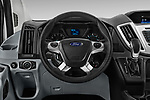 Car pictures of steering wheel view of a 2019 Ford Transit Wagon 150 XLT Wagon Low Roof Sliding Pass. 130 5 Door Passenger Van