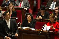 French Labour Minister Myriam El Khomri attends at the National Assembly in Paris, France, December 13, 2016. # BERNARD CAZENEUVE PRONONCE SON DISCOURS DE POLITIQUE GENERALE