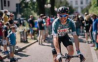 Adam Hansen (AUS/Lotto-Soudal) at the start of his 413th consecutive Grand Tour stage...<br /> <br /> stage 14 San Vito al Tagliamento – Monte Zoncolan (186 km)<br /> 101th Giro d'Italia 2018