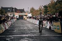 CX world champion Wout Van Aert (BEL/Crelan-Charles) wins the Elite Men's race at the Superprestige Gavere / Belgium 2017