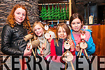 Georgia Leigh Edwards (Dingle) with Edie Hall, Molly Mc Sweeney and Maisie Hall (Castlegregory) at the Kerry Christmas Market which was held at the Dingle Bay Hotel over the weekend.