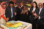 On the occasion of the celebration of Africa Day 2009, the United Nations African Ambassasdors Spouce's Group (UNAASG). In partnership with the African Union held a special event at United Nations Deligate Dining Room. The event gathered UN Ambassadors from 53 African countries, UN Memeber States Permanant Representatives, foreign diplomats, corprate leaders, non-governmental agencies heads, and academics.