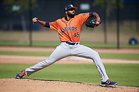 Houston Astros pitcher Hector Perez (45) during a Minor League Spring Training Intrasquad game on March 28, 2018 at FITTEAM Ballpark of the Palm Beaches in West Palm Beach, Florida.  (Mike Janes/Four Seam Images)