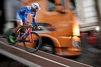 Frederik Veuchelen (BEL/Wanty-Groupe Gobert) off the start ramp<br /> <br /> stage 1: prologue<br /> Ster ZLM Tour 2015