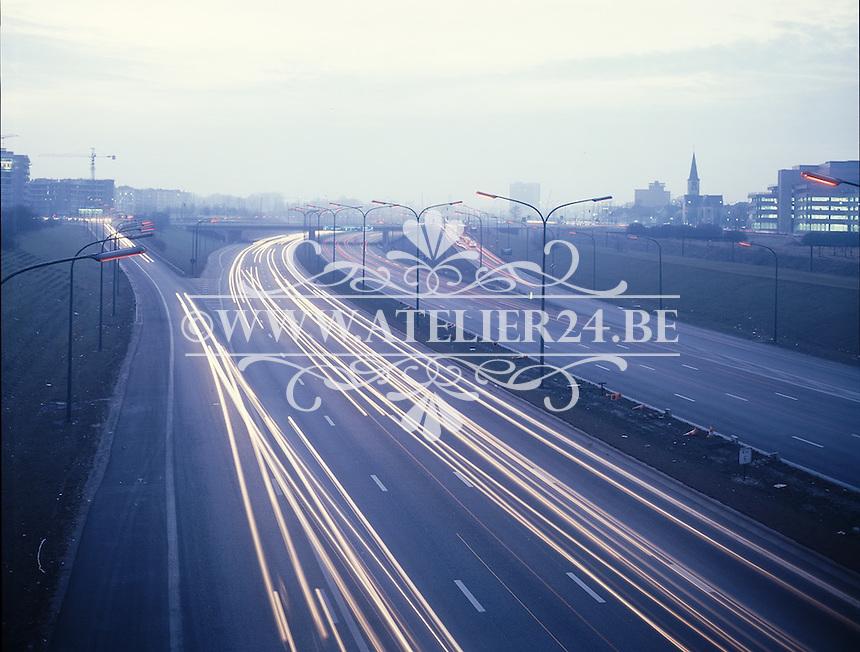 Ring rond Antwerpen autoweg in 1980.