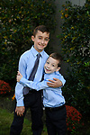 Nate's Bar Mitzvah Photography<br /> Temple Family Portraits at Kol Ami