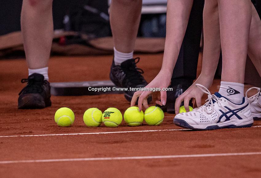 The Hague, The Netherlands, Februari 7, 2020,    Sportcampus, FedCup  Netherlands -  Balarus, Seccond match on friday: Ballchange<br /> Photo: Tennisimages/Henk Koster