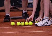 The Hague, The Netherlands, Februari 7, 2020,    Sportcampus, FedCup  Netherlands -  Balarus, Seccond match on friday: Ballchange<br /> Photo: Tennisimages/Henk Koster