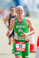 31 JUL 2011 - LONDON, GBR - Conor Murphy - Elite Men's race - Virgin Active London Triathlon (PHOTO (C) NIGEL FARROW)