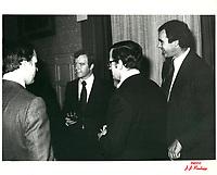 Robert-Rene De Cotret, a la tribune du Cercle canadien de Montreal, le 4 Dec 1978, a l'Hotel Windsor<br /> <br /> PHOTO : JJ Raudsepp  - Agence Quebec presse