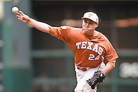 NCAA Baseball featuring the Texas Longhorns against the Missouri Tigers. Green, Cole 4906  at the 2010 Astros College Classic in Houston's Minute Maid Park on Sunday, March 7th, 2010. Photo by Andrew Woolley