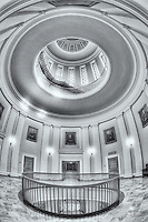 A view of the beautiful rotunda and portrait gallery on the 4th floor of the Maine State House in Augusta, Maine.