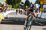 Mathieu Van Der Poel (NED) Alpecin-Fenix wins solo Stage 2 of the 2021 Tour de France, running 183.5km from Perros-Guirec to Mur-de-Bretagne Guerledan, France. 27th June 2021.  <br /> Picture: A.S.O./Charly Lopez   Cyclefile<br /> <br /> All photos usage must carry mandatory copyright credit (© Cyclefile   A.S.O./Charly Lopez)