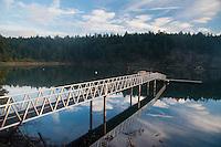 Private Dock at Reid Harbor in Morning Light, Stuart Island, Washington, US