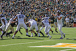 TCU Horned Frogs quarterback Grayson Muehlstein (17)in action during the game between the TCU Horned Frogs and the Baylor Bears at the McLane Stadium in Waco, Texas.