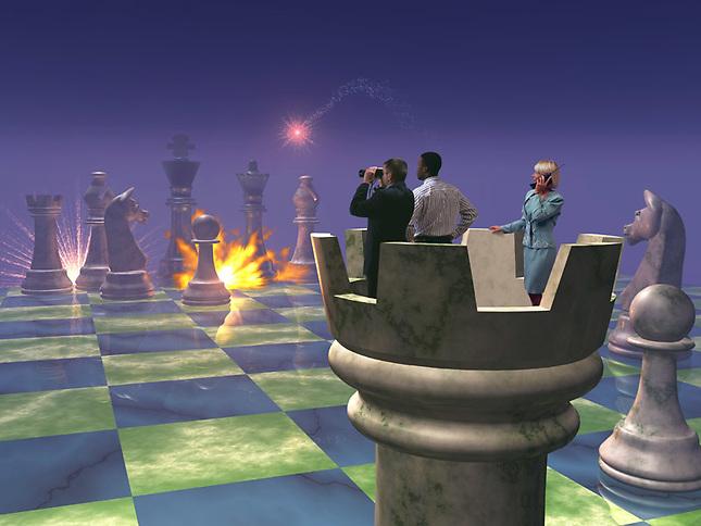 Battle on a chess board