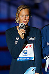 Federica Pellegrini (ITA), JULY 31, 2013 - Swimming : Federica Pellegrini of Italy poses during the medal ceremony of the women's 200m freestyle at the 15th FINA Swimming World Championships at Palau Sant Jordi arena in Barcelona, Spain. (Photo by Daisuke Nakashima/AFLO)