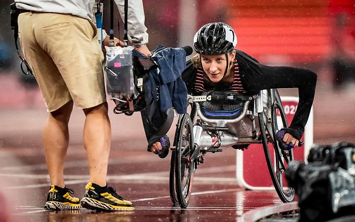 Jessica Frotten, Tokyo 2020 - Para Athletics // Para-athlétisme.<br /> Jessica Frotten competes in the women's 400m T53 final // Jessica Frotten participe à la finale du 400 m T53 femmes. 02/09/2021.