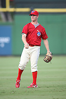 August 12, 2008: Tony Mansolino (8) of the Clearwater Threshers at Bright House Field in Clearwater, FL. Photo by: Chris Proctor/Four Seam Images