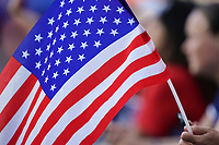 LE HAVRE, FRANCE - JUNE 20: American Flag during a 2019 FIFA Women's World Cup France group F match between the United States and Sweden at Stade Océane on June 20, 2019 in Le Havre, France.