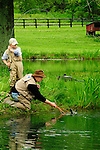 JOE FORY'S FATHER FLY FISHING WITH JOE'S SON IN FRESHWATER
