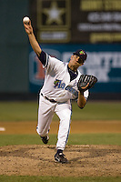 June 25, 2008: The Everett AquaSox's Javier Martinez pitches against the Boise Hawks during a Northwest League game at Everett Memorial Stadium in Everett, Washington.