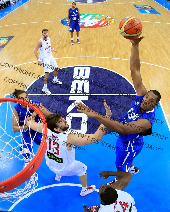 French national basketball team player Diaw Boris during final Eurobasket 2011 game between Spain and France in Kaunas, Lithuania, Sunday, September 18, 2011. (photo: Pedja Milosavljevic)
