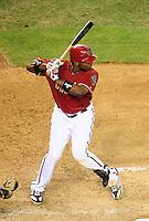 Jun. 22, 2010; Phoenix, AZ, USA; Arizona Diamondbacks outfielder Justin Upton against the New York Yankees at Chase Field. Mandatory Credit: Mark J. Rebilas-