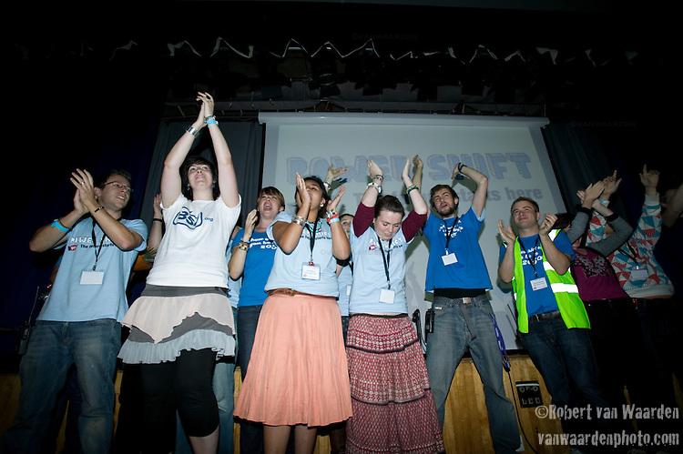 Part of the team that help organize Powershift UK. (©Robert vanWaarden)