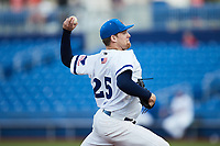 High Point Rockers starting pitcher Luke Westphal (25) in action against the Lexington Legends at Truist Point on June 16, 2021, in High Point, North Carolina. The Legends defeated the Rockers 2-1. (Brian Westerholt/Four Seam Images)