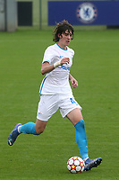 Artem Kasimov of Zenit St Petersburg in action during Chelsea Under-19 vs FC Zenit Under-19, UEFA Youth League Football at Cobham Training Ground on 14th September 2021