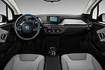 Stock photo of straight dashboard view of 2017 BMW i3 Range-Extender 5 Door Hatchback Dashboard