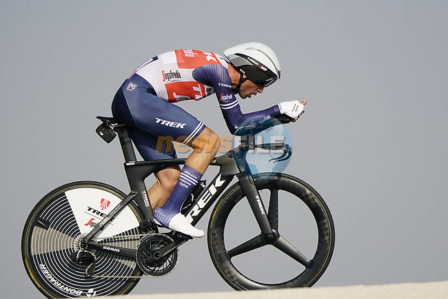 Vincenzo Nibali (ITA) during Stage 2 of the 2021 UAE Tour an individual time trial running 13km around  Al Hudayriyat Island, Abu Dhabi, UAE. 22nd February 2021.  <br /> Picture: Eoin Clarke | Cyclefile<br /> <br /> All photos usage must carry mandatory copyright credit (© Cyclefile | Eoin Clarke)