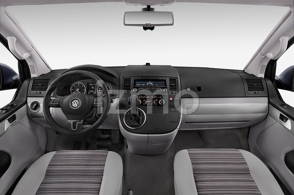 Stock photo of straight dashboard view of a 2014 Volkswagen CALIFORNIA COMFORTLINE EDITION BLUEMOTION 4 Door Minivan Dashboard