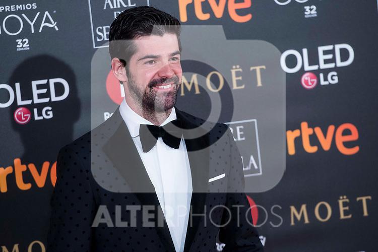 Miguel Angel Munoz attends red carpet of Goya Cinema Awards 2018 at Madrid Marriott Auditorium in Madrid , Spain. February 03, 2018. (ALTERPHOTOS/Borja B.Hojas)