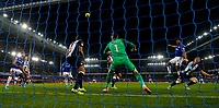 Everton's Yerry Mina goes close with a header <br /> <br /> Photographer Alex Dodd/CameraSport<br /> <br /> The Premier League - Everton v Newcastle United  - Tuesday 21st January 2020 - Goodison Park - Liverpool<br /> <br /> World Copyright © 2020 CameraSport. All rights reserved. 43 Linden Ave. Countesthorpe. Leicester. England. LE8 5PG - Tel: +44 (0) 116 277 4147 - admin@camerasport.com - www.camerasport.com